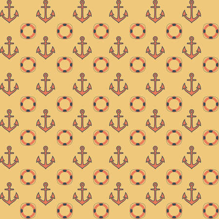 nautic: Flat navy seamless vector pattern, eps 10