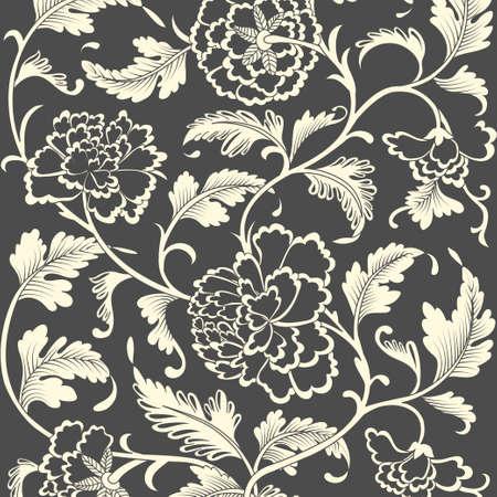 motif floral: Ornement coloré motif floral antique. Vector illustration Illustration