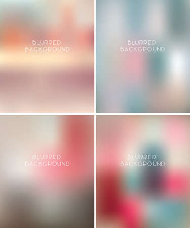 vector backgrounds: Set of blurred vector backgrounds  Illustration