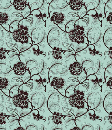 flower pattern: Chinese background with flowers. Seamless pattern.