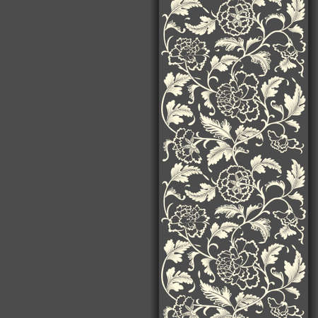 Elegant card with decorative asian flowers, eps 10