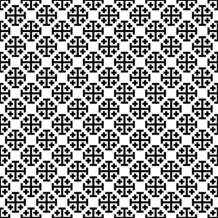 rood: Monochrome cross seamless pattern.