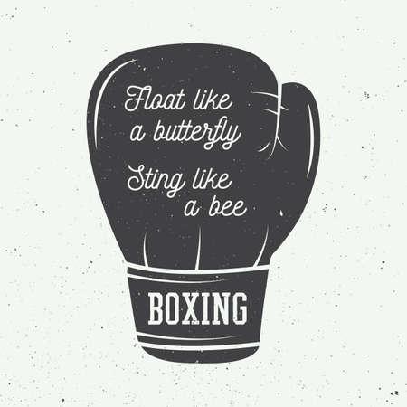 Guantes de boxeo en el estilo vintage. Ilustración vectorial Ilustración de vector