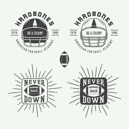Set of vintage rugby and american football labels, emblems and logo. Vector illustration Banco de Imagens - 44081687
