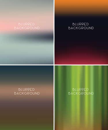 horizons: Set Of Blurred vector Backgrounds, eps 10