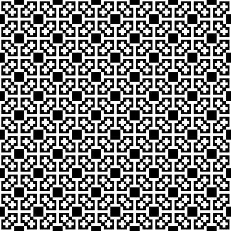 rood: Monochrome cross seamless pattern. Blackwhite vector illustration