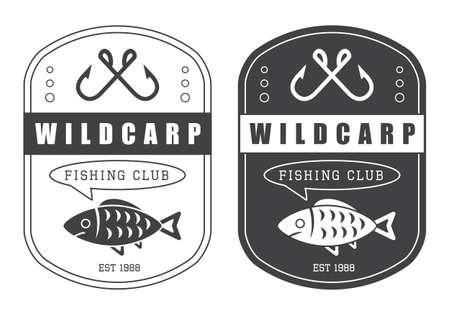 logo poisson: Ensemble de chasse vintage et pêche vecteur logo Illustration