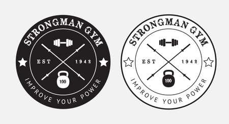 gimnasio: Logo Gimnasio vector en blanco y negro, eps 10