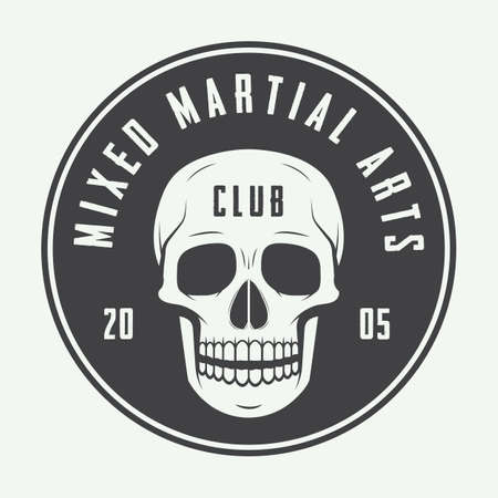 mixed martial arts: Vintage artes marciales mixtas logotipo, insignia o emblemas. Ilustraci�n vectorial