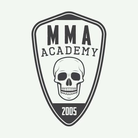 混合: Vintage mixed martial arts logo, badge or emblems. Vector illustration