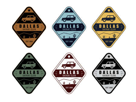 Safari club set in 6 colors in vintage style