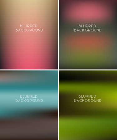 unfocused: Set of blurred backgrounds. Vector illustration Illustration
