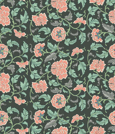indonesia culture: Chinese seamless floral vector pattern, eps 10