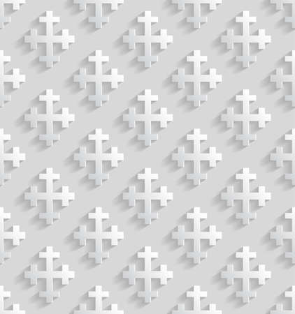 rood: White seamless pattern with crosses. Vector illustration