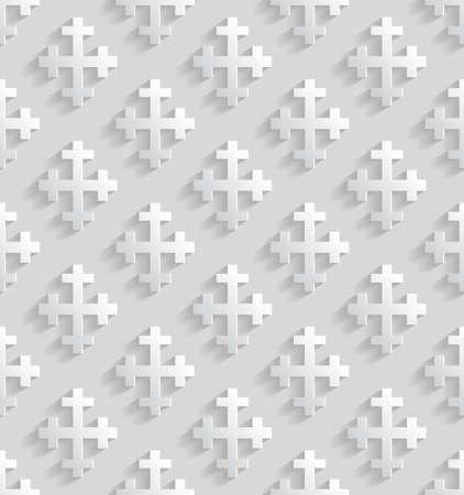 Witte naadloze patroon met kruisjes. vector illustratie