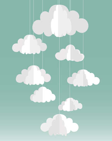 cloud cover: Paper clouds illustration
