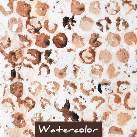background coffee: Brown abstract watercolor vector background