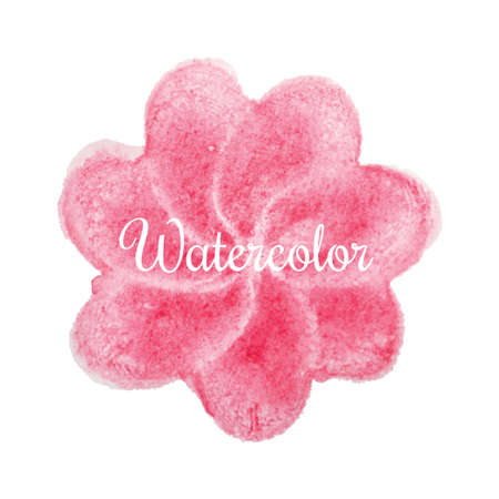 pink flower: Pink flower watercolor hand drawn background