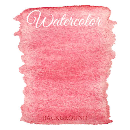worn paper: Abstract watercolor pink hand drawn vector background
