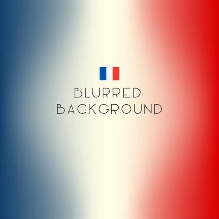 Blurred color France flag background. Vector illustration.