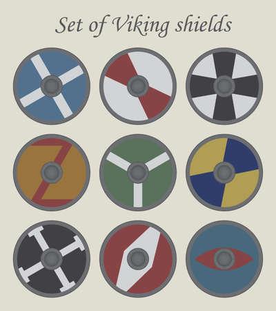 Set of viking vector shields,