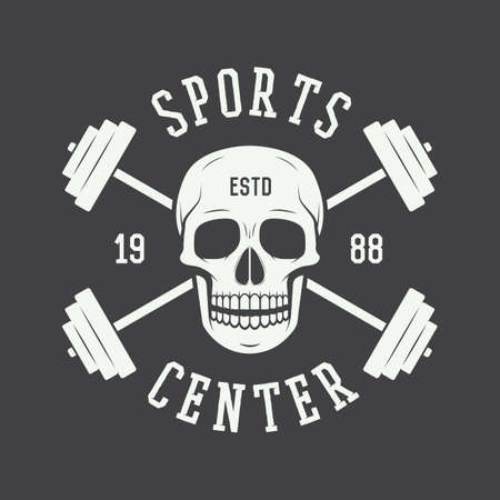 Gym logo, label and or badge vintage style. Vector illustration