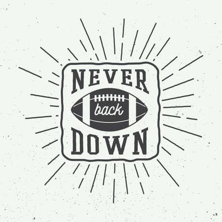 pelota rugby: Rugby o una pelota de fútbol americano con la tipografía. Ilustración del vector con letras