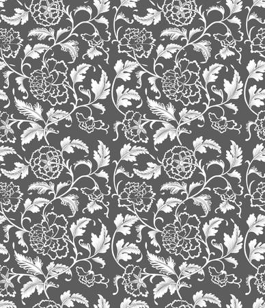 Seamless Chinese vector ornament pattern,