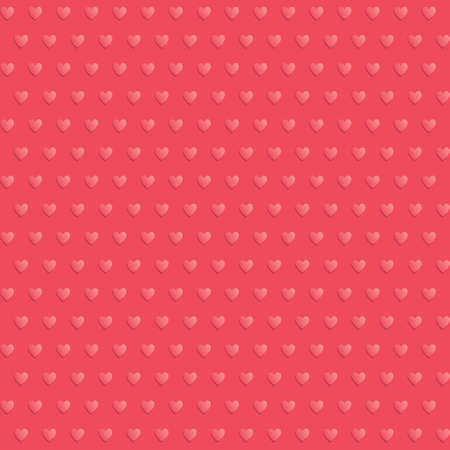 pimples: Seamless hearts polka dot red vector pattern