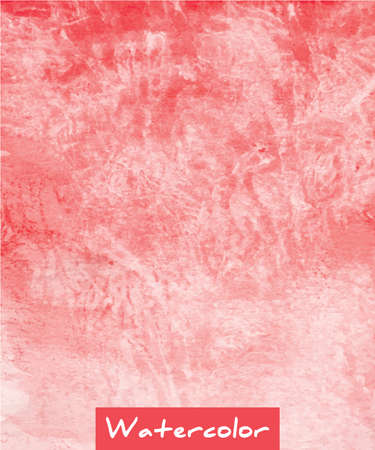 ombre: Red abstract watercolor hand drawn background Illustration