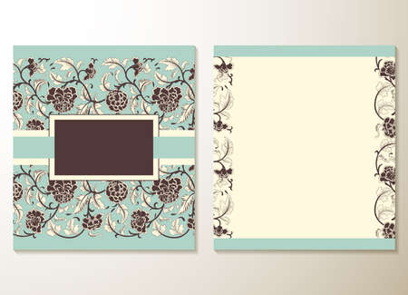 cute cards: Wedding invitation cards with floral elements