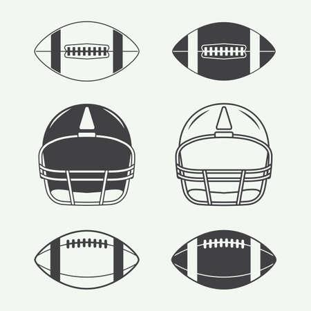 Jeu de rugby de cru et de football américain étiquettes, emblèmes, logos et éléments de conception Banque d'images - 46551715