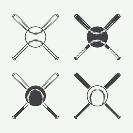 야구 로고, 엠블럼, 배지 및 디자인 요소 빈티지. 벡터 일러스트 레이 션