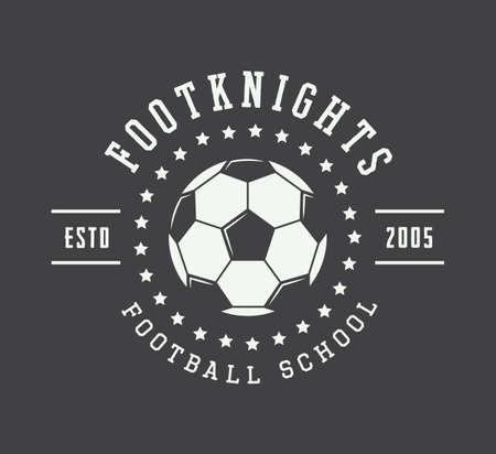 Vintage soccer or football logo, emblem, badge. Vector illustration Banco de Imagens - 46551815