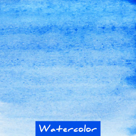 wet paint: Blue watercolor hand drawn textured vector background