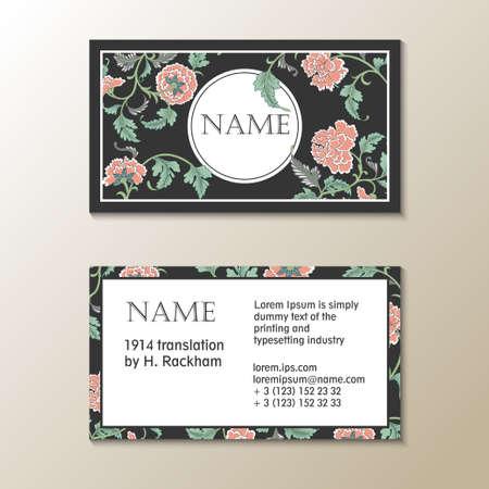 floral visit card template