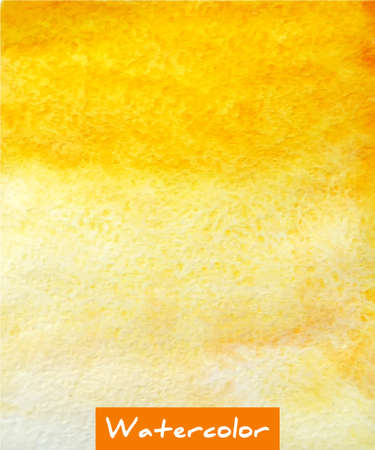 ombre: Yellow abstract watercolor hand draw background Illustration