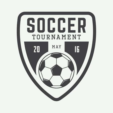 Vintage soccer or football  Illustration