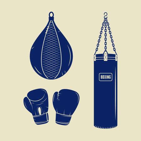 arts symbols: Boxing and martial arts  Illustration