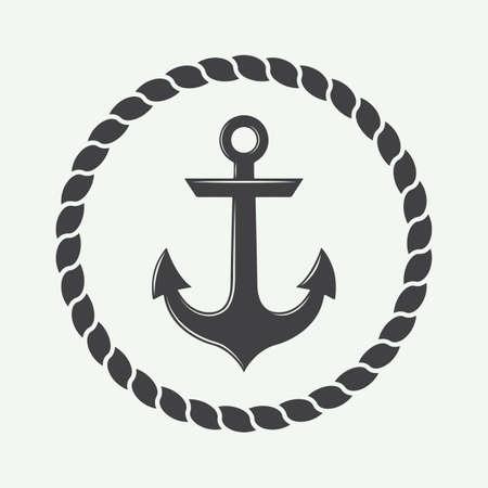 Anchor in vintage style. 版權商用圖片 - 48069831
