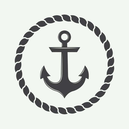 water anchor: Anchor in vintage style.