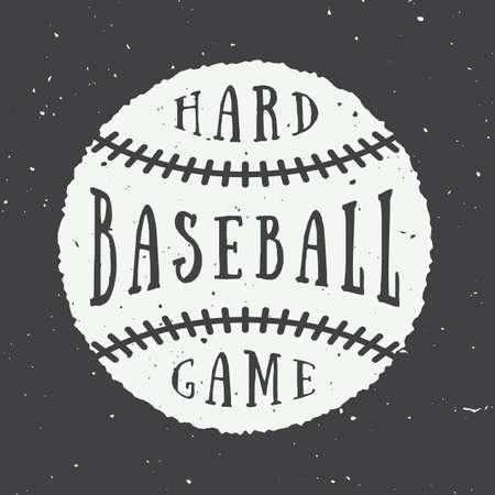 pelota beisbol: Logo vintage de béisbol, emblema, insignia. Vectores