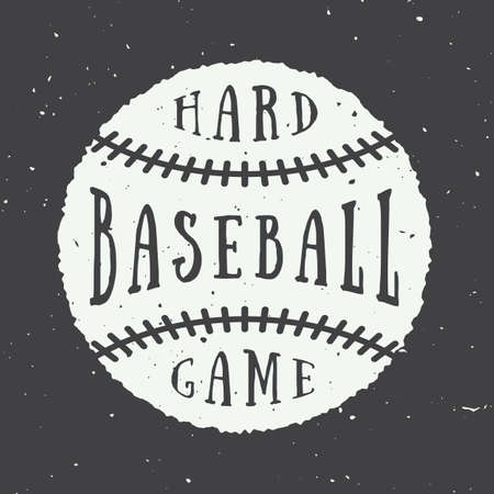 baseball ball: Vintage baseball logo, emblem, badge.  Illustration