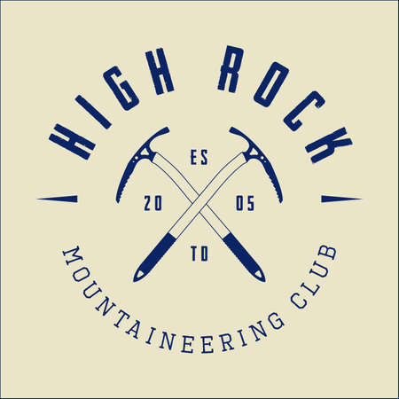 mountaineering: Vintage mountaineering logo, badge or emblem.