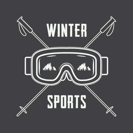 SKI: Vintage ski or winter sports