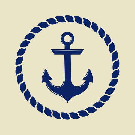 ancre marine: Ancrer dans le style vintage. Vector illustration Illustration