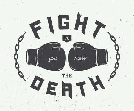boxing sport: Boxing slogan with motivation. Vector illustration Illustration