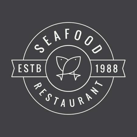 raw beef: Vintage restaurant logo, badge or emblem. Vector illustration Illustration