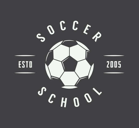 soccer team: Vintage soccer or football logo, emblem, badge. Vector illustration Illustration