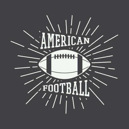 football kick: Vintage rugby and american football labels, emblems. Vector illustration Illustration